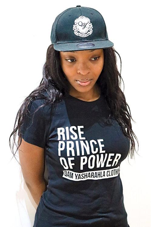 RISE PRINCE OF POWER - Women's Black Stretch T-Shirt