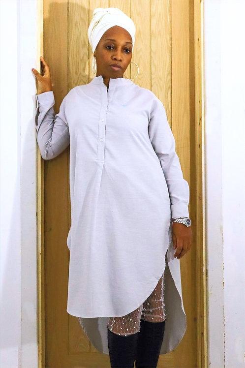 QY Couture - Oxford Cotton Dress