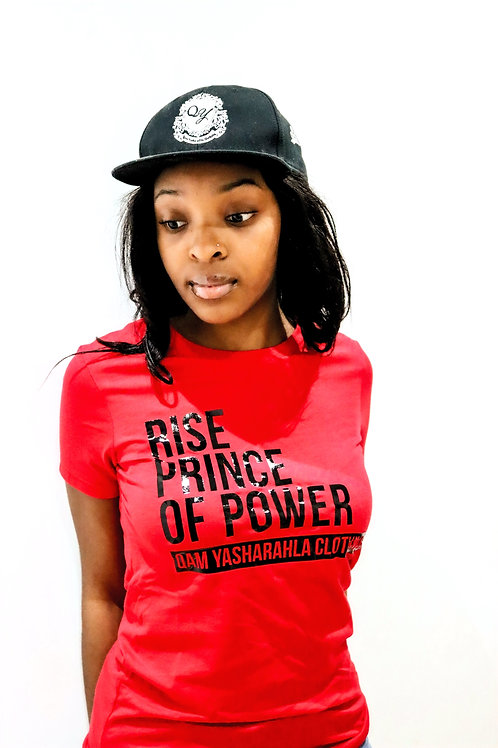 RISE PRINCE OF POWER - Women's Red T-Shirt