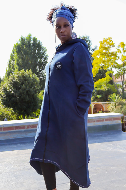 QY Couture - Oversized Fleeced Cardigan