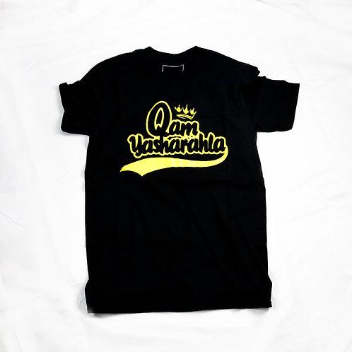 QAM YASH CLTH - Unisex Yellow/Black T-Shirt