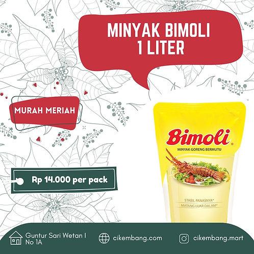 Minyak Bimoli 1 L BDG (Maksimal order 1 pcs)