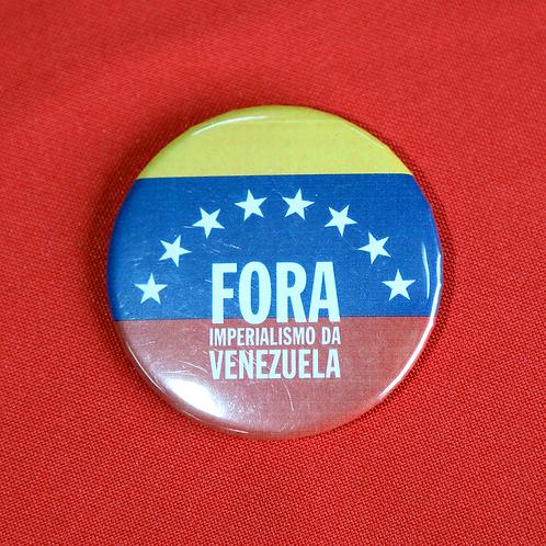 Bóton Fora imperialismo da Venezuela
