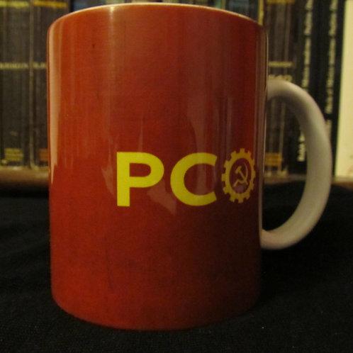 Caneca PCO vermelho escuro