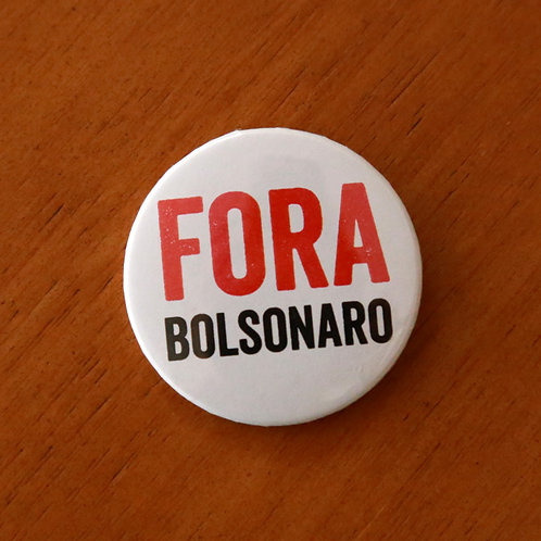 Bóton Fora Bolsonaro