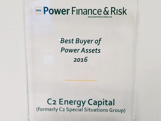 C2 Energy Capital Selected 2016's Best Buyer of Power Assets by Power Finance & Risk