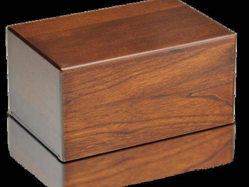 Wood Urn, Mahogany Finish