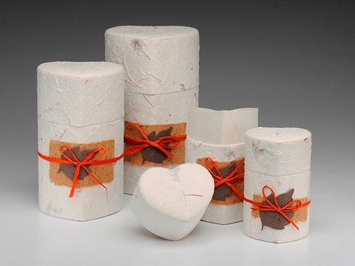 Biodegradable Peaceful Return Heart Shaped Urns