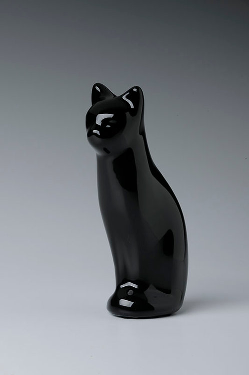 Z2202 Sitting Cat - Ebony