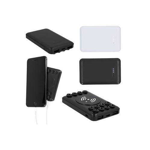 Batería portátil de plástico wireless con ventosas