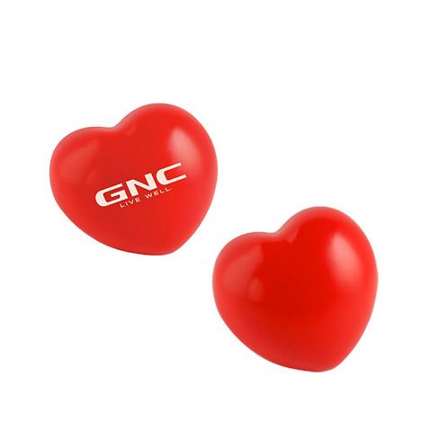Figura antiestrés de poliuretano en forma de corazón.