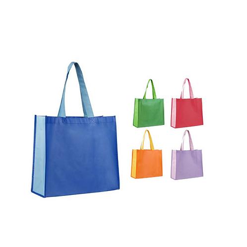 Bolsa ecológica bicolor fabricada con tela Non Woven laminada