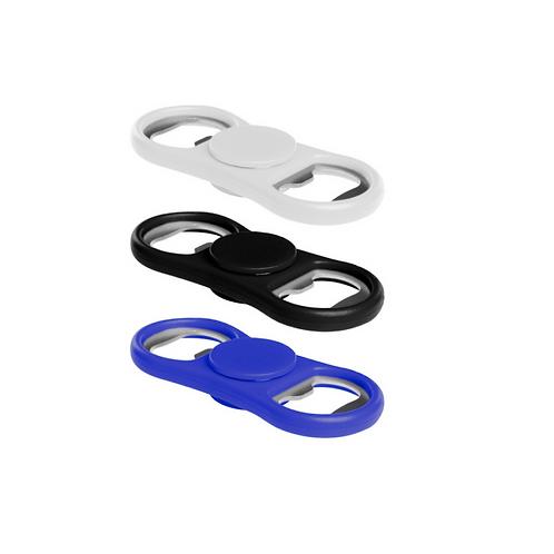 Spinner con destapador de plástico y metal.