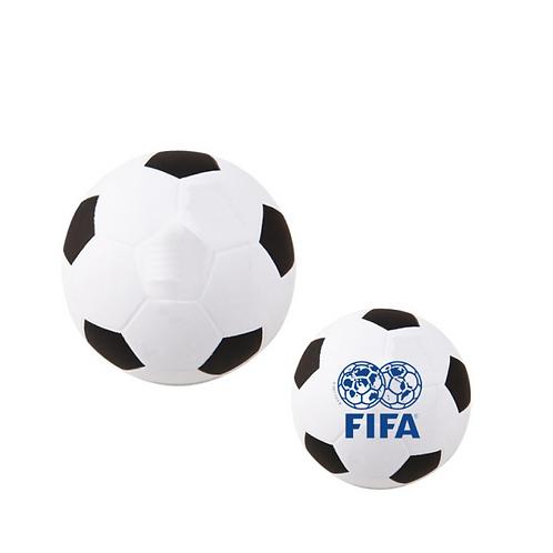 Pelota antiestrés de balón de soccer con material paliuretano