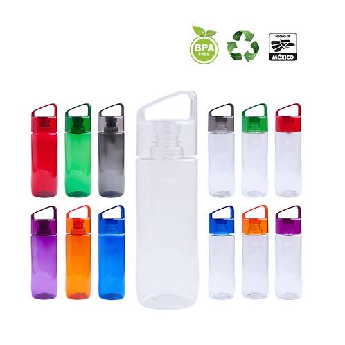 Cilindro de plástico, libre de BPA con tapa enroscable.