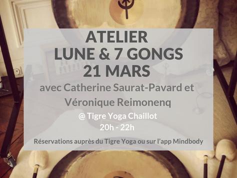 Atelier PLEINE LUNE & GONGS @ Tigre yoga Chaillot