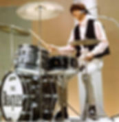 Ringo Starr's  Shea Stadium 1965 Ludwig oyster black pearl Super Classic model Beatles drum kit. Historian lecturer Gary Astridge