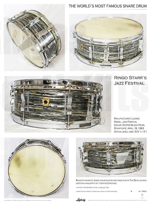 'The World's Most Famous Snare Drum' Poster