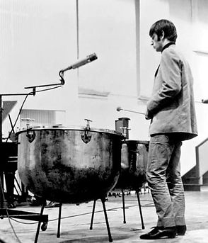 Ringo Starr playing timpani drums. Gary Astridge historian lecturer.