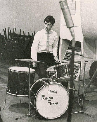 Ringo Premier Drum Kit in studio Gary Astridge historian