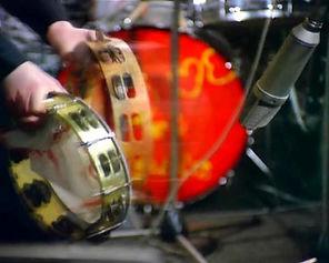 Beatles tambourines. Gary Astridge historian lecturer.