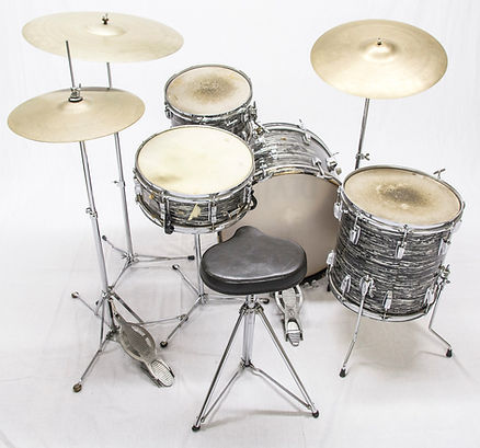Ringo Starr's 1963 Ludwig Downbeat model Beatles kit. Historian Lecturer Gary Astridge