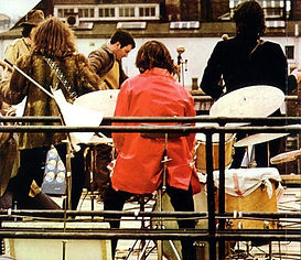 Beatles roof top concert - January 30, 1969. Ringo Starr's drum stool with back support. Gary Astridge historian.