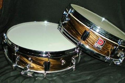 Two 1960 Premier Royal Ace snare drums. Historian Gary Astridge