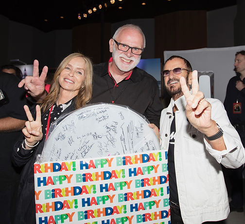 Ringo Starr's 79th birthday. Barbara Bach-Starkey, Gary Astridge, Ringo Starr 2019