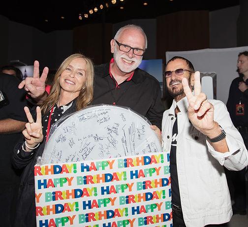 Ringo Starr's 79th birthday. Barbara Bach-Starkey, Gary Astridge, Ringo Starr 2019