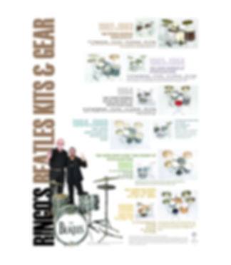 Beatles Era Drum Kits Timeline Poster. Ringo Starr approved. Gary Astridge historian, lecturer, curator