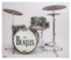 Ringo Starr's 1963 Ludwig oyster black pearl Downbeat drum kit. Historian Gary Astridge
