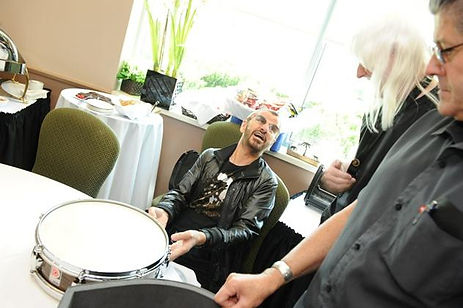 Ringo receives 70th birthday gift from Gary Astridge - 1960 Premier Mahogany Duroplastic Royal Ace snare drum