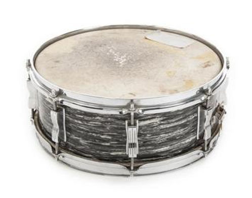 1964 Ludwig Jazz Festival snare drum that came with Ringo Starr's 1964 Downbeat model Sullivan drum kit. Gary Astridge historian lecturer curator.
