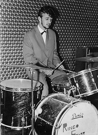 Ringo Starr with his 1960 Premier drum kit. Historian Gary Astridge