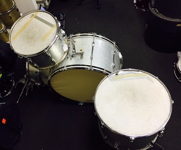 Ringo Starr's 1967 Ludwig silver sparkle jumbo drum kit. Historian Lecturer Gary Astridge