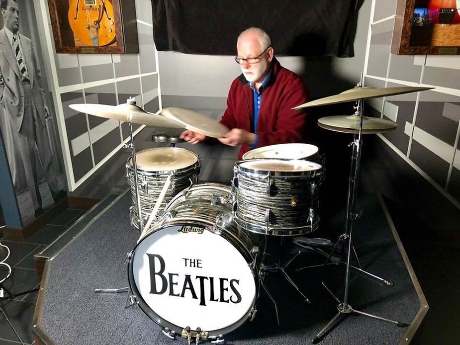 1st Downbeat kit in Jim Irsay's office. Historian Gary Astridge