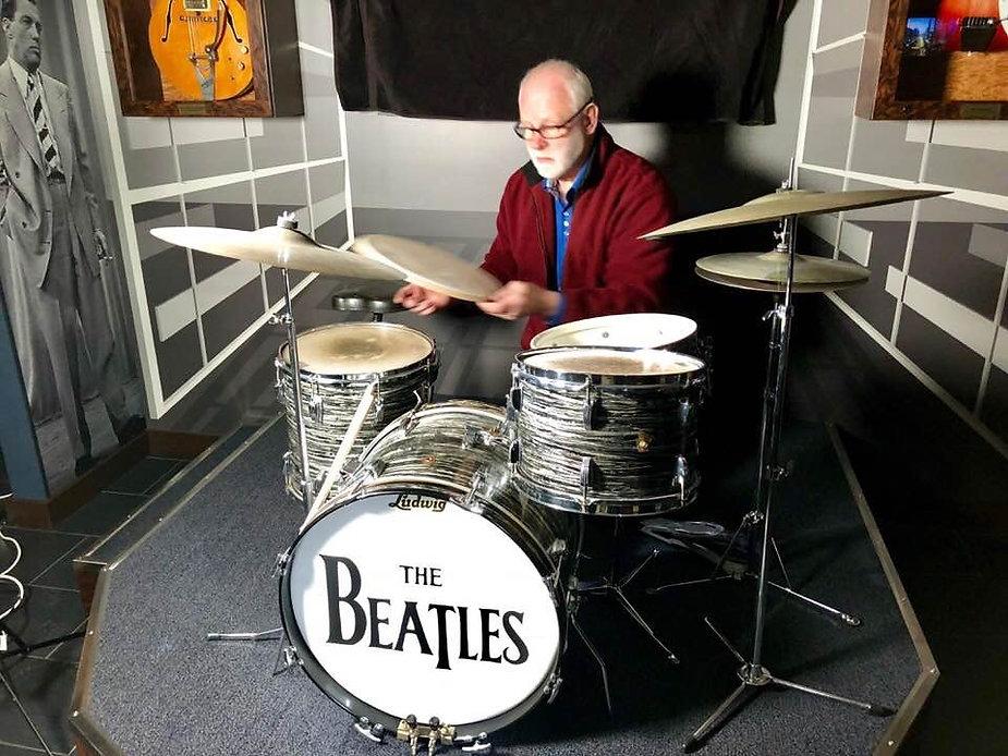 1st Downbeat kit in Jim Irsay's office. Historian Gary Astridge