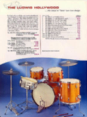 Sixties Ludwig Hollywood model drum kit.