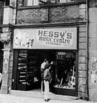 Hessy's Music Centre Liverpool. Historian Gary Astridge