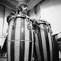 Ringo's Starr's ASBA conga drums. Gary Astridge historian lecturer.