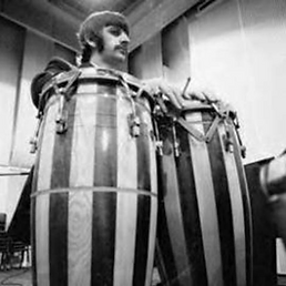 Ringo's Starr's ASBA conga drums. Gary Astridge historian lecturer.