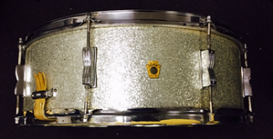Ringo Starr's 1967 Ludwig jumbo silver sparkle snare drum. Historian Lecturer Gary Astridge