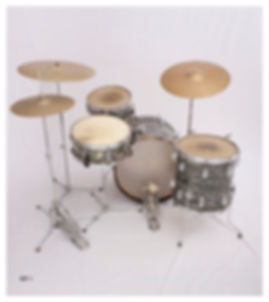 Ringo Starr's 1963 Ludwig Downbeat model Beatle drum kit. Historian Lecturer Gary Astridge