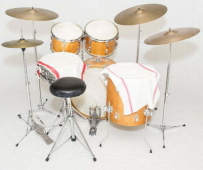 Ringo Starr's Beatles era 1967 Ludwig Hollywood maple drum kit. Historian Lecturer Gary Astridge
