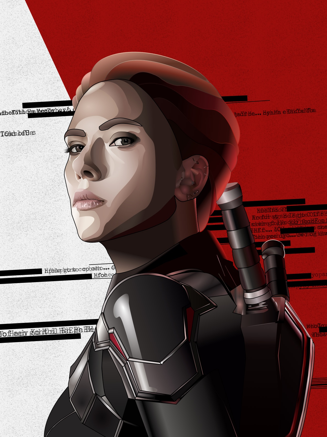 Black Widow Block Portrait