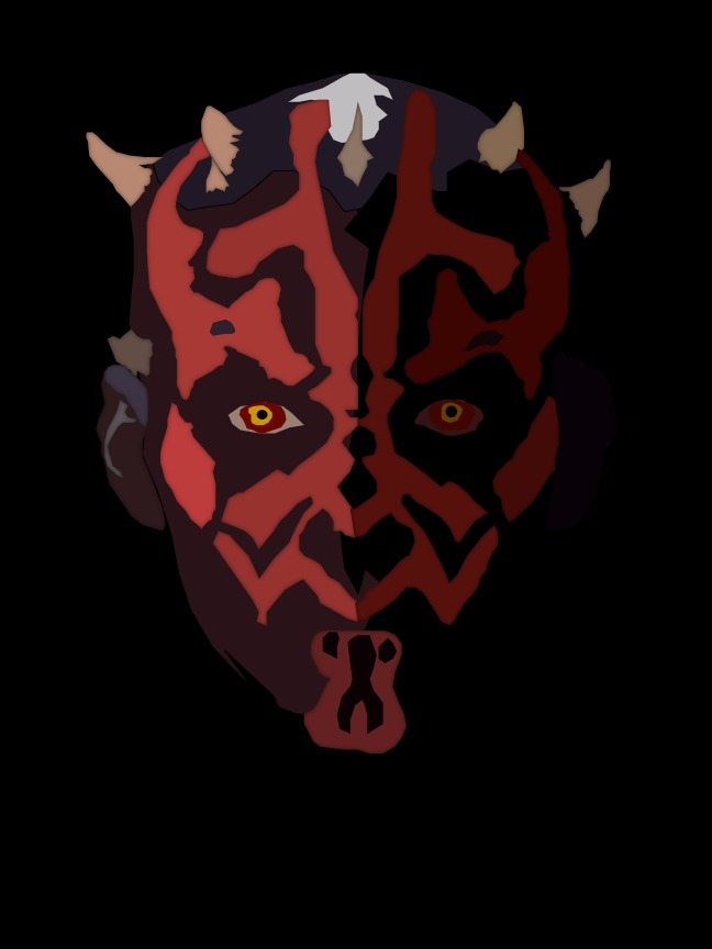 Darth Maul head line project free choice