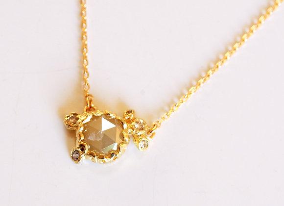 Smoky Diamond Necklace