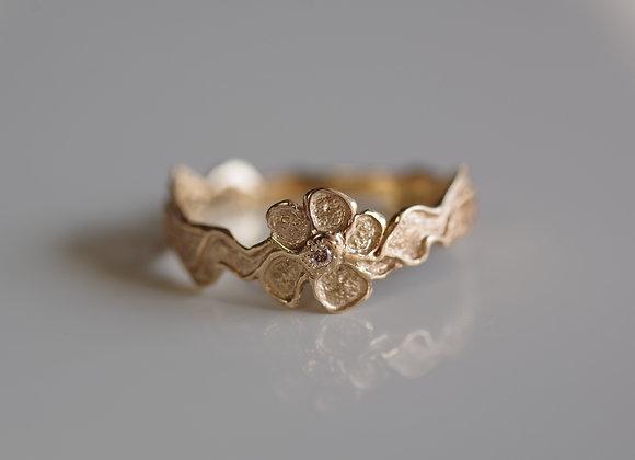 V-Shape Flower Lace Ring