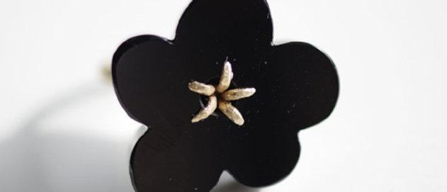 Flower Ring / Onyx